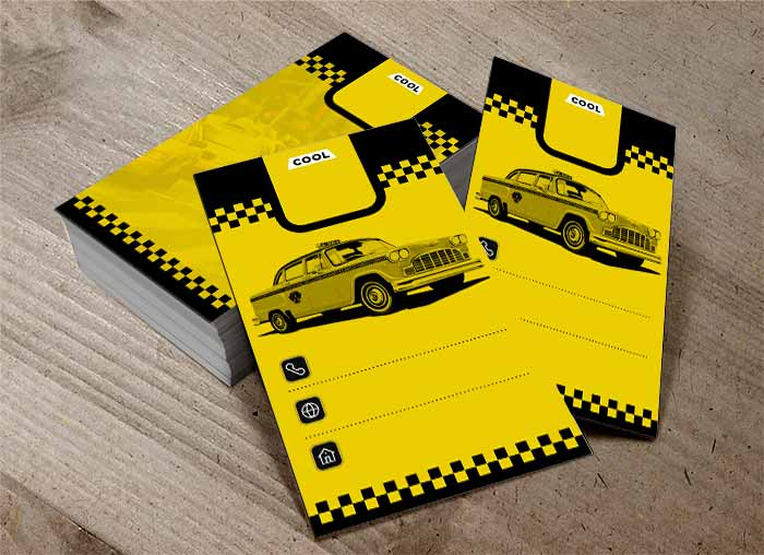کارت ویزیت تاکسی سرویس رایگان
